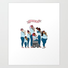 Intersectional Rosie the Riveter Art Print