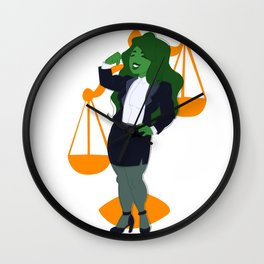 Judge, Jury, and Executioner Wall Clock