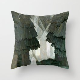 Pine Forest Clearing Throw Pillow