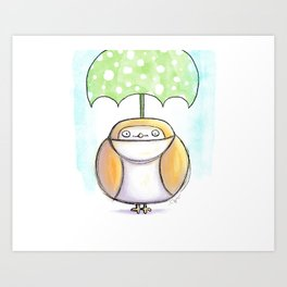 Optimist Owl  Art Print