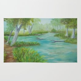 Little Manistee River MM120824a Rug