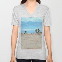Awesome Tropical Beach Heaven Landscape, Brazil Unisex V-Neck