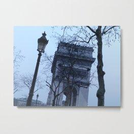 Arc de Triomphe at dusk  Metal Print