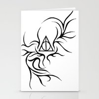 deathly hallows Stationery Cards featuring Deathly Hallows by Ria-Ra