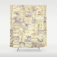 mosaic Shower Curtains featuring Mosaic by Santo Sagese