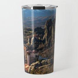 Meteora Sunset Travel Mug