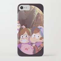 gravity falls iPhone & iPod Cases featuring gravity falls by Tae V