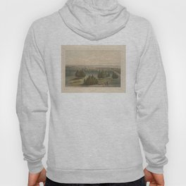 Vintage Pictorial View of Toronto Canada (1851) Hoody