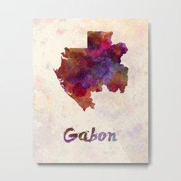 Gabon in watercolor Metal Print