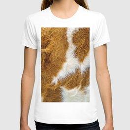 Cowhide. Cow Fur Background  T-shirt