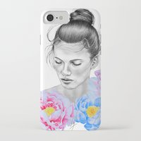 peony iPhone & iPod Cases featuring Peony by Libby Watkins Illustration