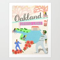 oakland Art Prints featuring Oakland by June Chang Studio