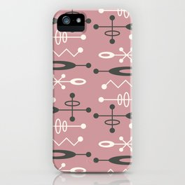 Mid Century Modern Atomic Space Age Design 332 iPhone Case