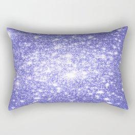 Lavender Periwinkle Sparkle Stars Rectangular Pillow