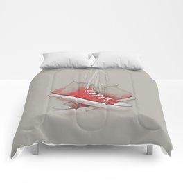 red sneakers Comforters