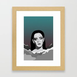 Mountain Girl Framed Art Print