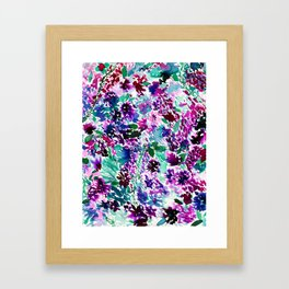 La Flor Plum Framed Art Print