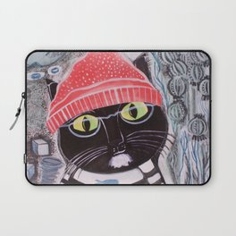 Mittens Ponders the Fibonacci Sequence Laptop Sleeve