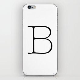Letter B Typewriting iPhone Skin
