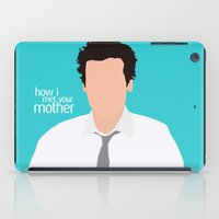 himym iPad Cases featuring Ted Mosby from HIMYM by Rosaura Grant