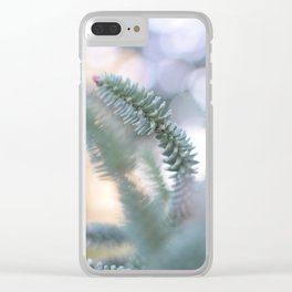 Trough leaves Clear iPhone Case