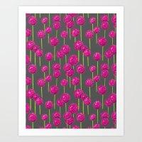 Allium - Pink Art Print