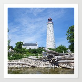 Chantry Island Lighthouse Art Print