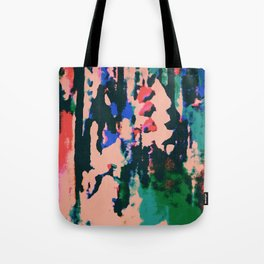 Neon Peach Abstract Tote Bag
