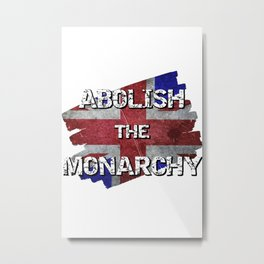 Distressed British flag - Abolish the Monarchy Metal Print