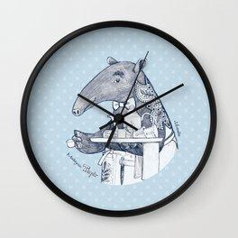 Tea time starts now - Malayan Tapir - Bule Wall Clock