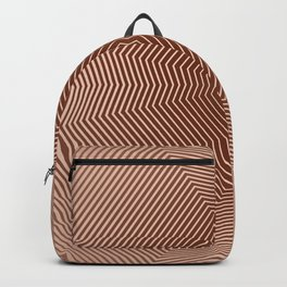 Beautiful brown abstract lines Backpack