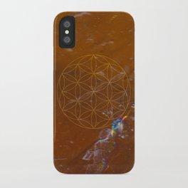 Orange Calcite // Flower of Life iPhone Case