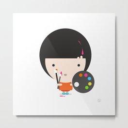 Little Artist Metal Print