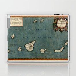Map Of Canary Islands 1563 Laptop & iPad Skin