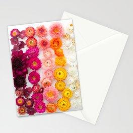 Rainbow flower pattern 4 Stationery Cards