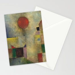 Red Balloon by Paul Klee Stationery Cards