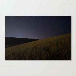 Iowa Prairie at Night  Canvas Print