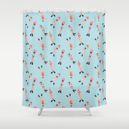 swimmers with fins pattern Shower Curtain