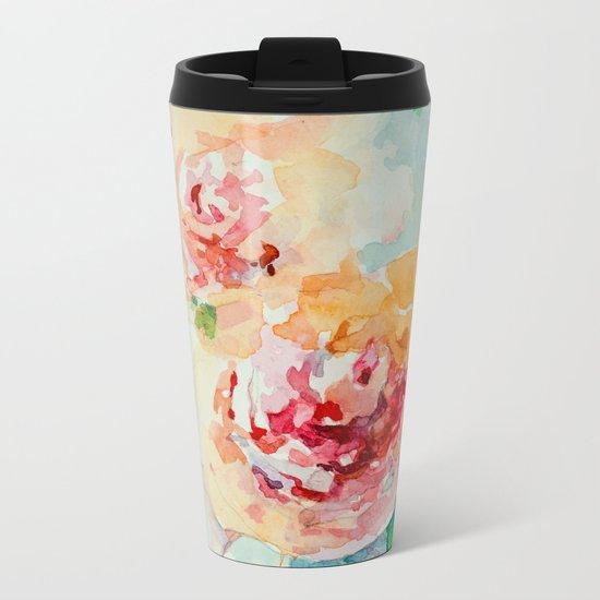 Gentle roses Metal Travel Mug