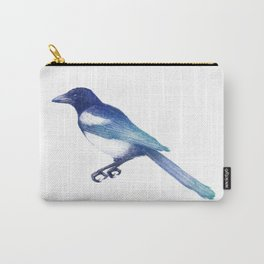 Magpie (Pica pica) - blue and turquoise Carry-All Pouch