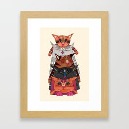 pile of cats Framed Art Print
