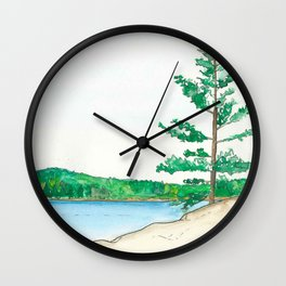 The Land Between Wall Clock