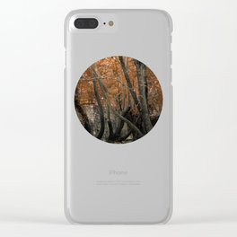 Forest with waterfall Clear iPhone Case