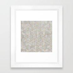 Concrete Hexagonal Pattern Framed Art Print