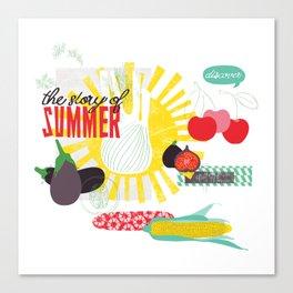 Summer Food Canvas Print