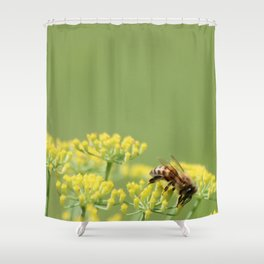Fennel and the bee Shower Curtain
