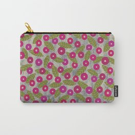 Poppy Flowers in Fuchsia – dry chalk crayons Carry-All Pouch