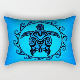 Tribal Turtle Sun Rectangular Pillow