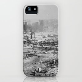 Ruins after the race massacre in Tulsa, Oklahoma, 1921 iPhone Case