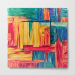 Abstract colorful mosaic Metal Print